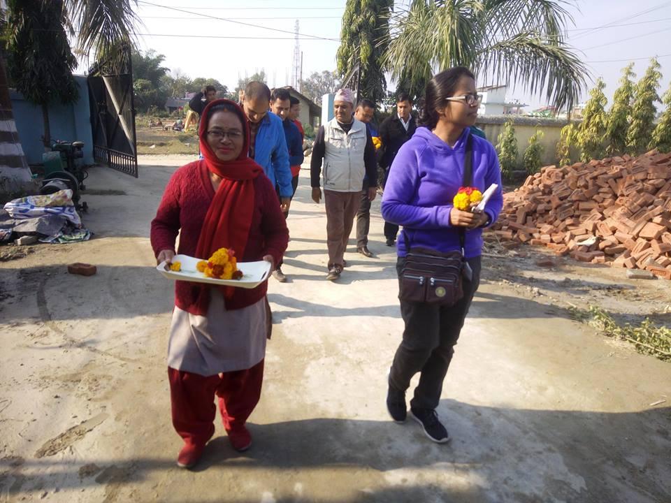 FAYA Nepal Hearty Welcomed to Regional-drr-advisor-from-helpage-international visit Team
