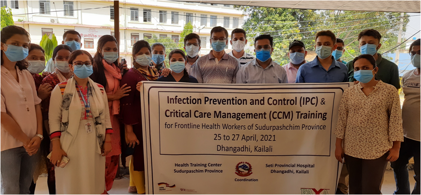 Infection Prevention/Control and Critical Care training to frontline health workers of Sudurpaschim.